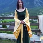 Mein Elbenkleid 2007 - natürlich selbstgenäht und bestickt!